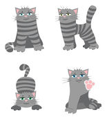 Cheerful cat — Stock Vector
