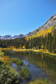 The autumn mountain landscape — Stock Photo