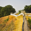 Stock Photo: Reduced copy of Great Chinese wall in park