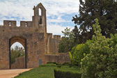 The beautiful architecture of the castle Templars in Tomar — Stock Photo