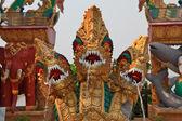 Dragons, elephants and fish. Fountain — Stock Photo