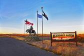 Reservation blackfeet Indians — Stock Photo