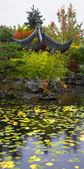 Graceful small house on coast of a pond — Stock Photo