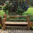 A flowers and a bench — Stock Photo #14617787