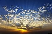 Puesta de sol en la primavera — Foto de Stock