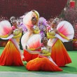 Chinese dance group in beautiful costumes - 图库照片