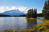 La faible profondeur du lac canadien — Photo