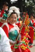 Charming Chinese dancer ensemble — Stock Photo