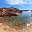 The blue water in the desert — Stock Photo #15854285