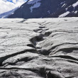 Enormous glacier in mountains of Canada. Thawing edges — Stock Photo