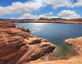 озеро пауэлл, fisheye объектив — Стоковое фото