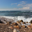 Sea surf of coast Mediterranean sea - Foto Stock