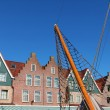 The seaport in Volendam - Stock Photo