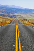 Magnificent American road in prairie — Stock Photo
