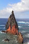 красный и серый скалы — Стоковое фото