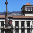the main square in the city of funchal — Stock Photo