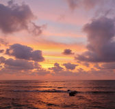Enchanting sunset on Mediterranean sea — Stock Photo