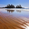 Ocean outflow on an enormous beach — Stock Photo