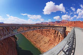 Sleek bridge in the Navajo Reservation — Stock Photo