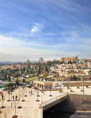 View of the New Jerusalem - buildings and walking — Stock Photo