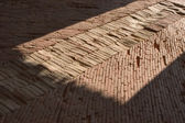 Path laid out by bricks — Stock Photo