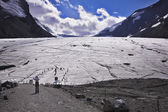 Huge majestic glacier in mountains of Northern Canada. — Stock Photo