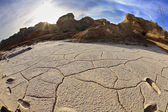 Dry ground in desert of Israel — Stockfoto