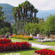 A garden architecture - park on Lake Maggiore — Stock Photo
