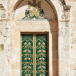 Entrance to the Coptic Church of the Holy Sepulchre in Ierusalim — Stock Photo