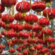 The traditional red lanterns decorating the Chinese city — Stock Photo #25040257