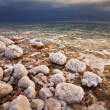 Stock Photo: Grandiose thunder-storm on the Dead Sea