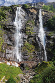 Picturesque waterfall in Northern Italy — Stock Photo