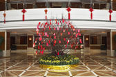 Superb issued lobby in dear Chinese hotel — Stock Photo