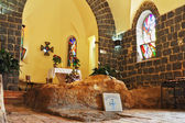 The interior of the church by the Sea Genisaret — Stock Photo