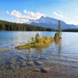 Quiet shallow lake in Banff National Park  — Stock Photo