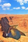 Colorado nehri kıyısında hevesli bir seyahat — Stok fotoğraf