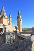 The medieval castle on Sunrise — Stock Photo