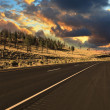 The world's best American road to sunset — Stock Photo #33115379