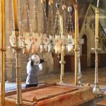 ������, ������: Pilgrim prays in a white veil