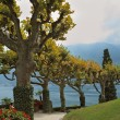 Lake Como in the misty haze — Stock Photo
