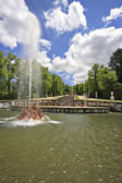 The cascade of fountains — Stock Photo