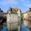 The  medieval fortress-prison in the Annecy — Stock Photo