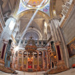 Постер, плакат: The marble hall in the Holy Sepulchre lit bright sun
