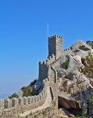 Thel Moorish castle - ancient stone walls and guard towers gear — Stock Photo