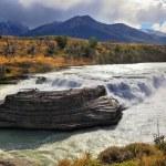 The majestic cascading waterfall — Stock Photo