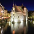 Summer night in the medieval town — Stock Photo