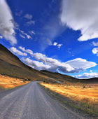 The dirt road in the Chile National Park — Stockfoto
