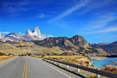 The highway in Patagonia — Photo