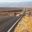 Stock Photo: Perfectly smooth highway and desert