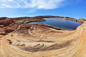 Flood of the artificial lake Powell — Stock Photo